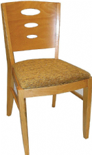 Dakota Wooden Side Chair with Upholstered Seat